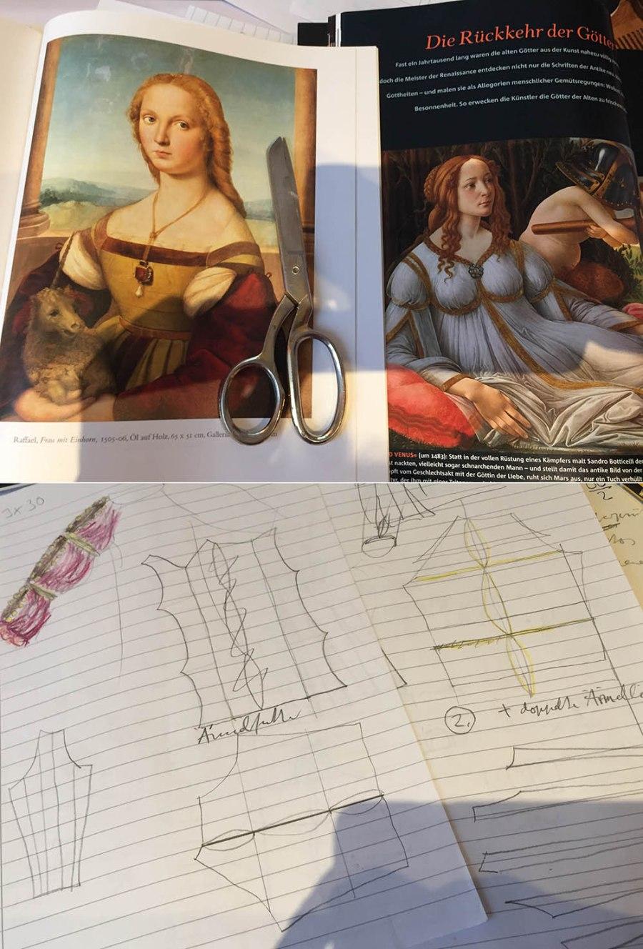 kostenlose Anleitung wie konstruiere ich ein Schnittmuster für ein Renaissance-Kleid
