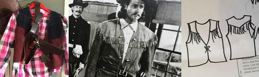Eine Cowboy-Weste mit Fransen, ein Schnittmuster für eine Weste zeichnen, Cowboy Kostüm für Kinder nähen, eine Weste nähen, einfache DIY-Projekte für Karneval, Schnittmuster für Karneval Halloween Fasching, Kostüm für Kinder nähen, Cowgirl Kostüm Mädchen, Cowboy Kostüm Junge Schnittmuster, cowboy chaps kinder selber, näh sachen, fransen nähen, einfache nähprojekte für kinder,