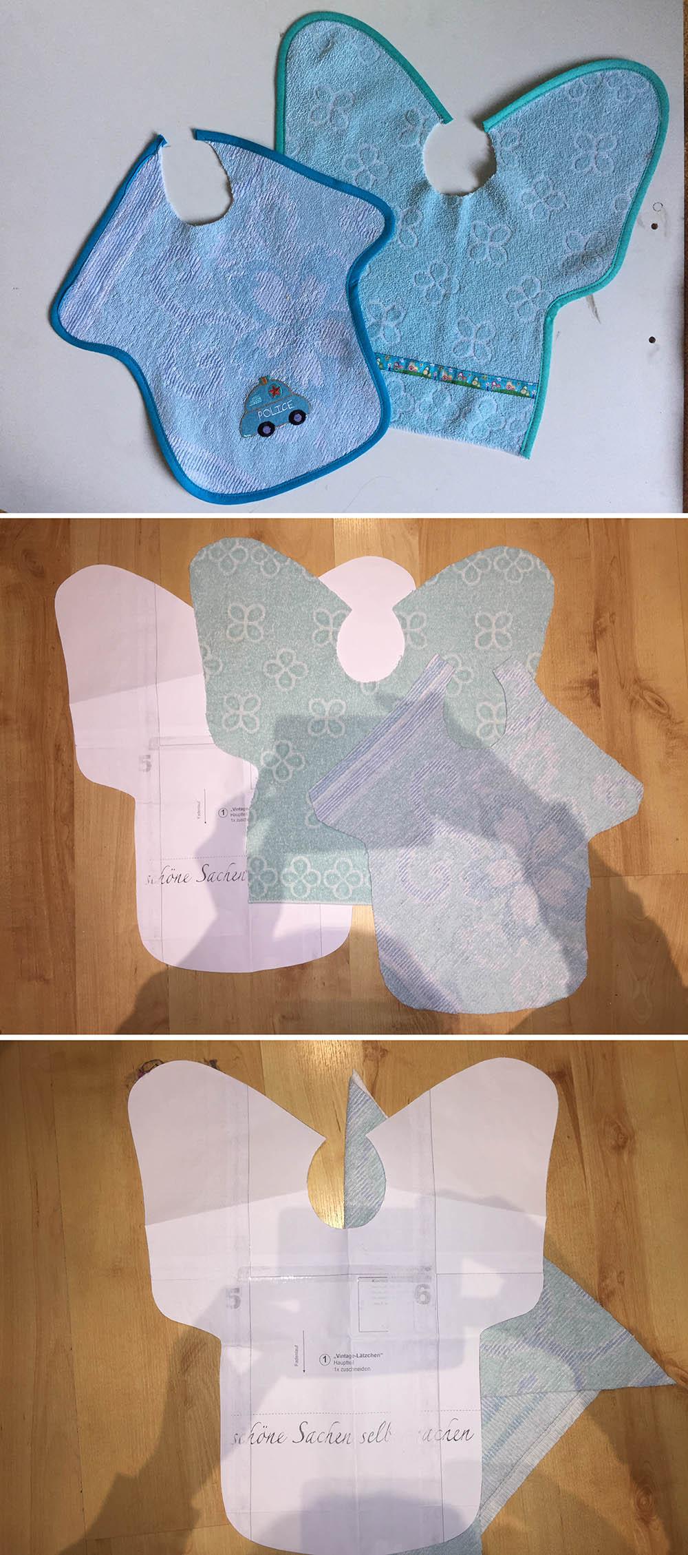 upcycling alte Handtücher werden neue Lätzchen