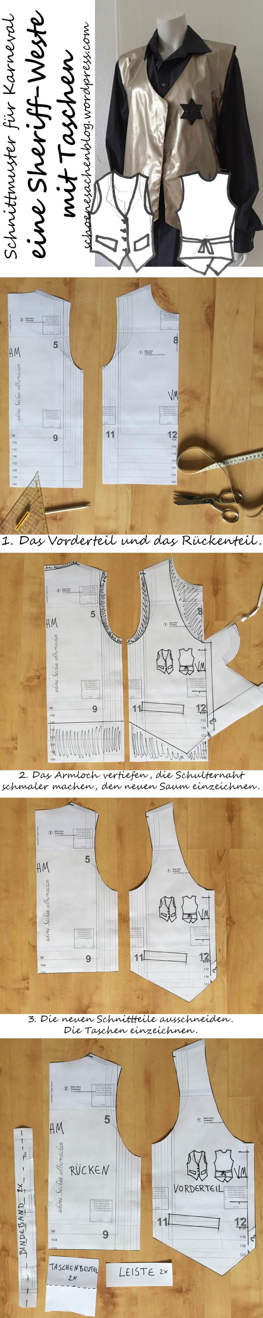 Beautiful Weste Schnittmuster Ornament - Decke Stricken Muster ...