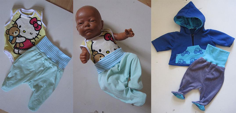 eine Strampelhose für Babies naehen