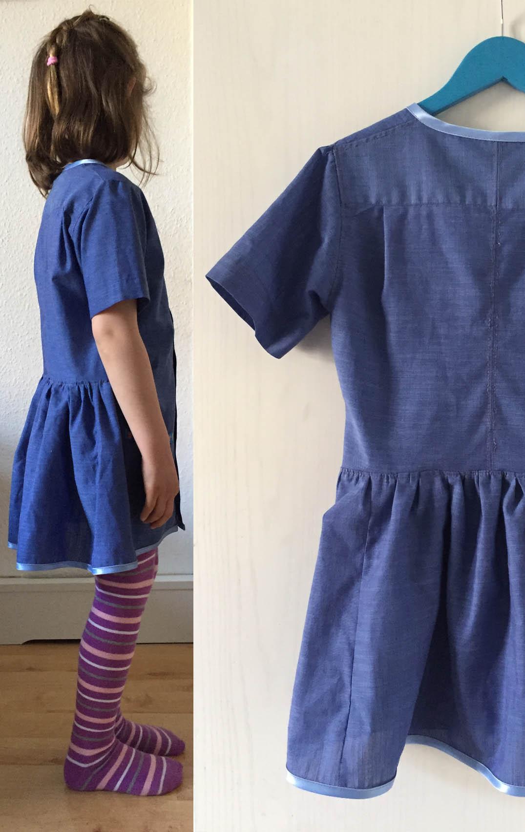 upcycling Herrenhemden, ein Kinderkleid aus einem Herrenhemd naehen