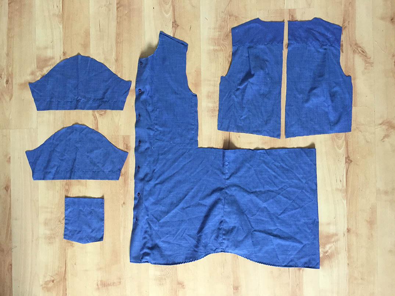 ein einfaches Kinderkleid aus einem Herrenhemd naehen