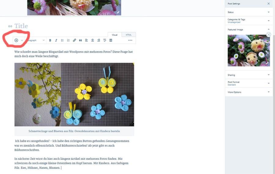 Mehrere Fotos In Einen Blogartikel Einfügen