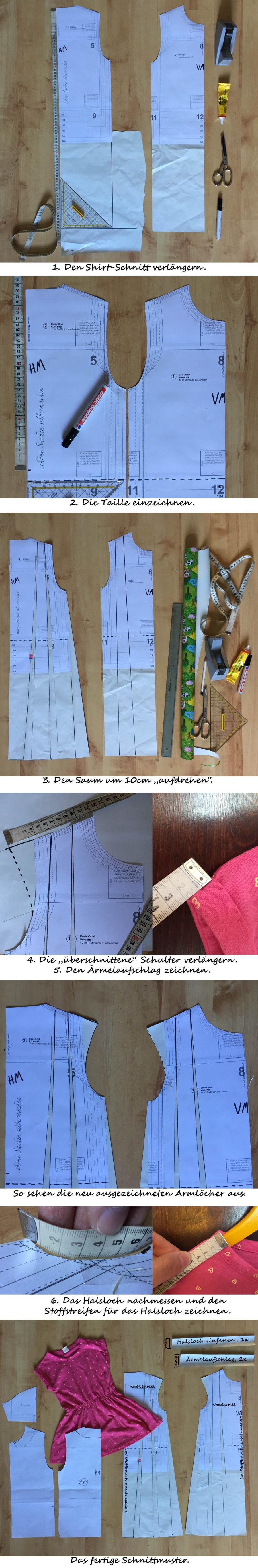 ein Schnittmuster für ein Sommerkleid konstruieren, ein Schnittmuster selber machen