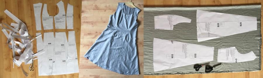 kostenlose Nähanleitung für das Leinenkleid