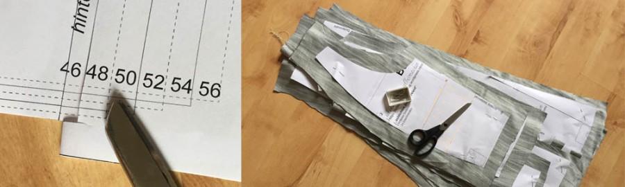 die Passform mit einem Nähmuster überprüfen, ein Schnittmuster für lange Größen verlängern