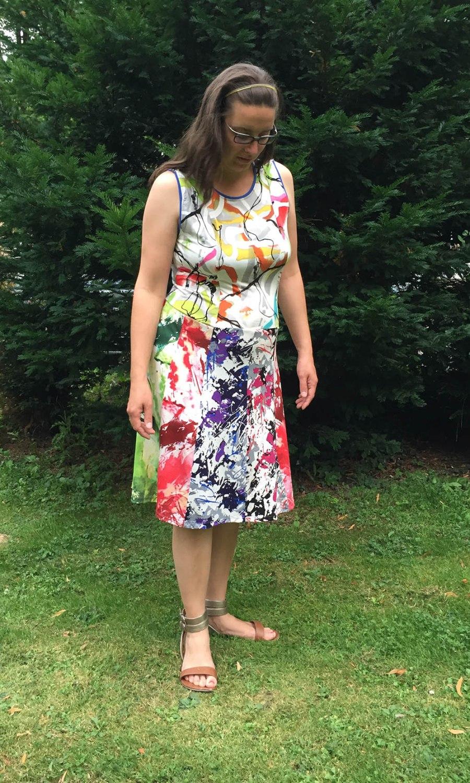 einfaches Kleid naehen 2