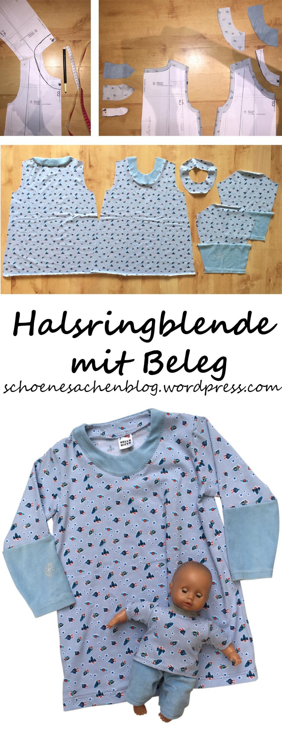 Kindernachthemd mit Halsringblende und Beleg nähen – schöne Sachen ...